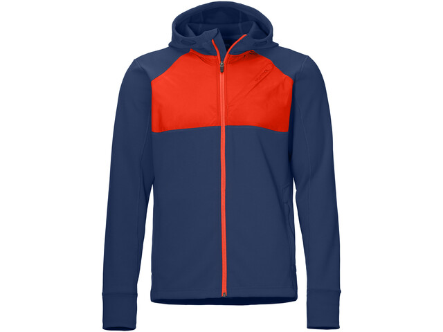 Marmot Hanging Rock Sudadera Capucha Hombre, arctic navy/victory red